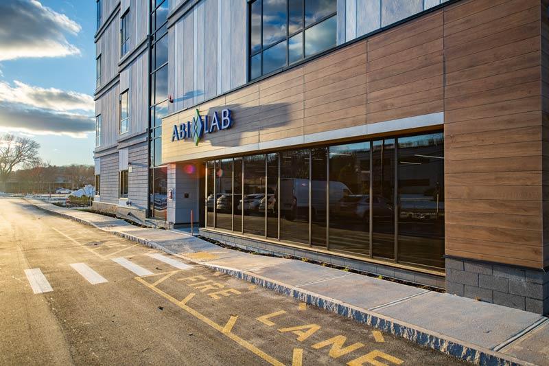 Exterior of ABI-LAB 2 building